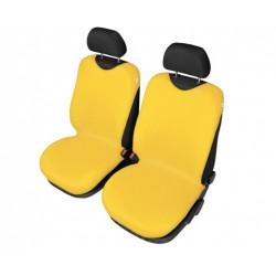 Pokrowce koszulki SHIRT COTTON na przednie fotele żółte