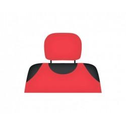 Pokrowce koszulki COTTON na zagłówki czerwone - komplet 2 pokrowców