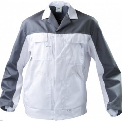Bluza do pasa WORK biały/szary