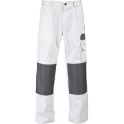 Spodnie do pasa WORK biały/szary