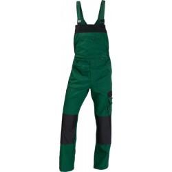Ogrodniczki WORK zielony/czarny
