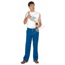 Spodnie do pasa niebieskie