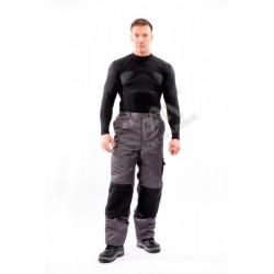 Spodnie ocieplane WORK popiel/czarny