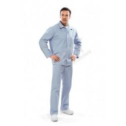 Bluza długa męska błękitna