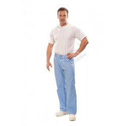 Spodnie męskie do pasa błękitne
