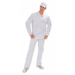 Bluza w serek długi rękaw biała
