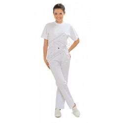 Spodnie do pasa damskie białe
