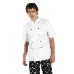 Bluza kucharska krótki rękaw biała