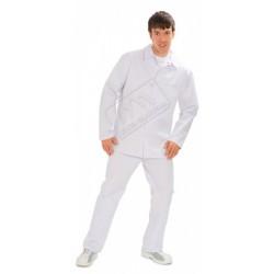 Bluza długa męska biała