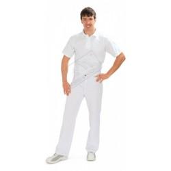 Spodnie męskie do pasa białe