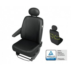 Pokrowiec na przedni fotel samochodowy PRACTICAL czarny