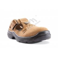Sandał roboczy bezpieczny S1+P KOMFORT brązowy