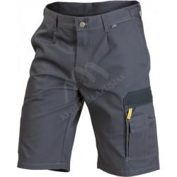 Spodnie krótkie WORK grafit/czrny
