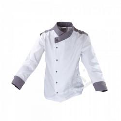 Bluza kucharska biały+szary