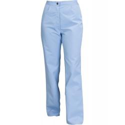 Spodnie do pasa damskie błękitne