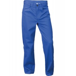 Spodnie do pasa trudnopalne, antyelektrostatyczne, dla spawacza (CE) niebieskie