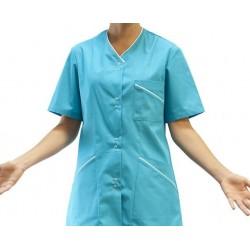 Bluza damska Elida z krótkim rękawem KEGEL-BŁAŻUSIAK 3348-060 turkus