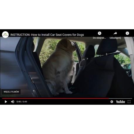 Film instruktażowy- instrukcja montażu pokrowca do przewozu psa.