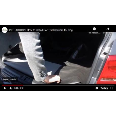 Film instruktażowy- instrukcja montażu pokrowca do bagażnika do przewozu psa